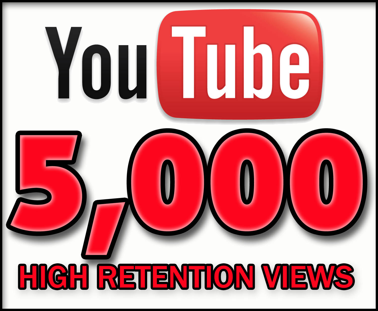 get you 5000+ High quality and high retention 100 percentage safe YouTibe video Views