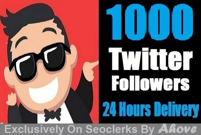 Start Instant 1000 Twittar Followers in Your Profile