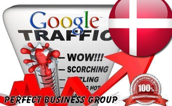 I send 1000 visitors via Google. dk by Keyword to your website