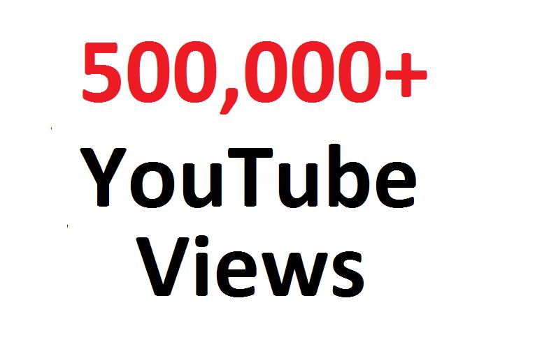 add 500,000 500K SAFE YouTube views guaranteed