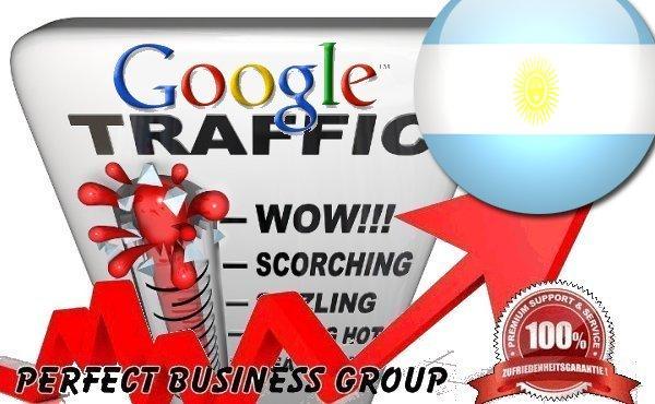 I send 1000 visitors via Google.com.ar by Keyword to your website
