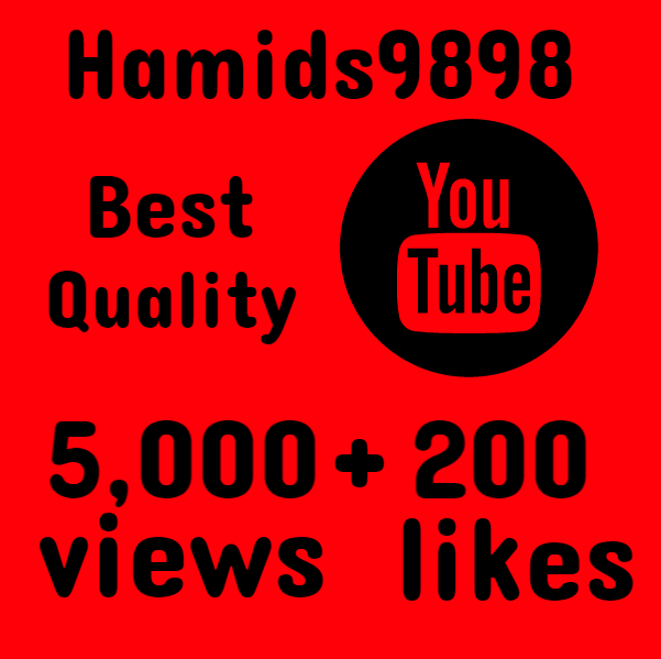 Providing 5000+ High Quality YouTube Views with 200 REAL HQ LIKES