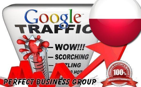 I send 1000 visitors via Google. pl by Keyword to your website