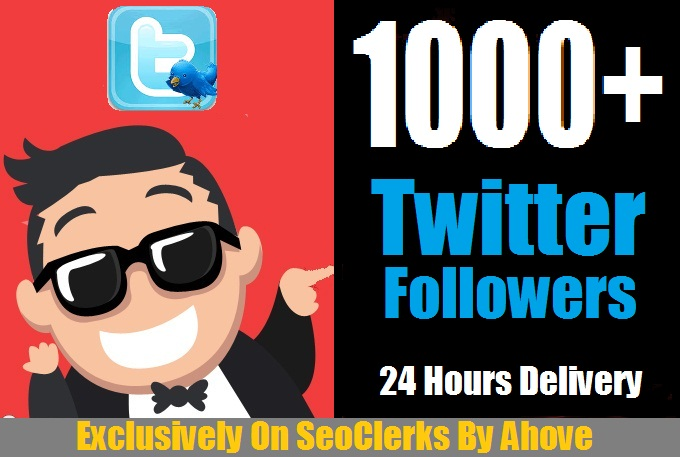 ADD 1000+ Real Looking Twitter Followers In Your Profile for $2