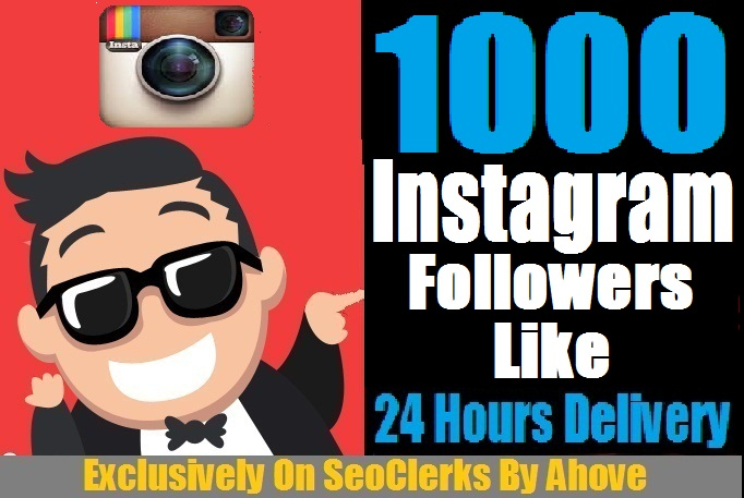 Get Instant 1000 Instagram Followers Or 1000 Likes To Yo... for $2