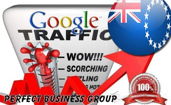 Organic traffic from Google.co.ck (Cook Islands)