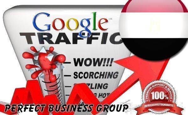 Organic traffic from Google. com. eg Egypt with your Keyword
