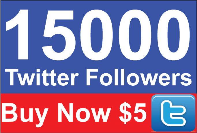 15000 Twitter Followers within 24-72 Hours