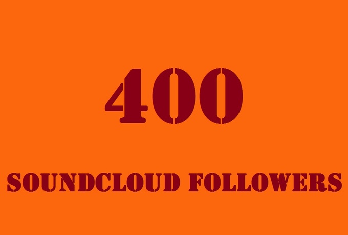 Give you 400+ SoundCloud Followers OR Likes in 24-48 Hours