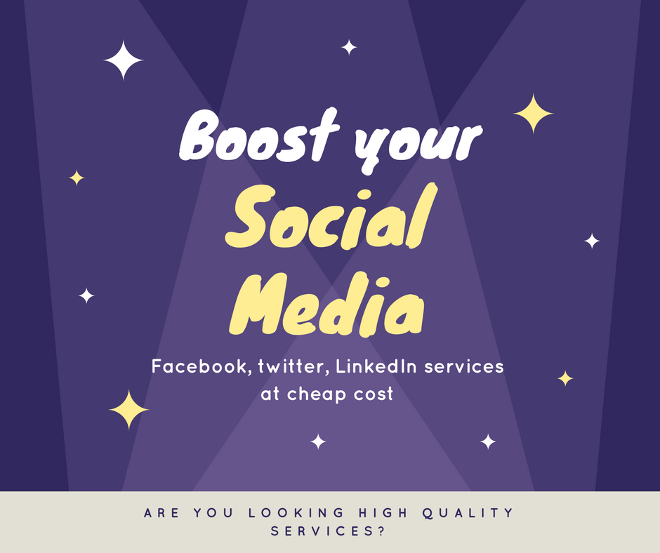 Social media package for boosting your account or pages or profiles for