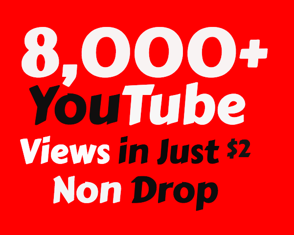 I will Add Super Fast 8000+ High Quality YouTube vie ws