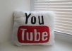 Give you 800++ human youtube video like in your any youtube videos only