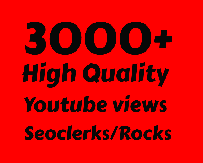 I will Add 3000+ High Retention Youtube views