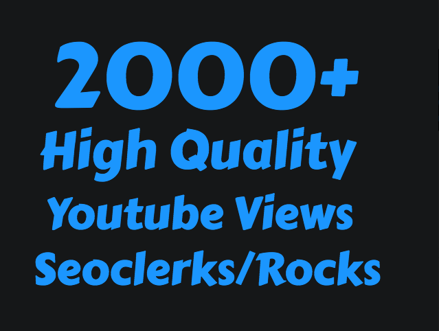 Add 2000+ High Retention Youtube view's