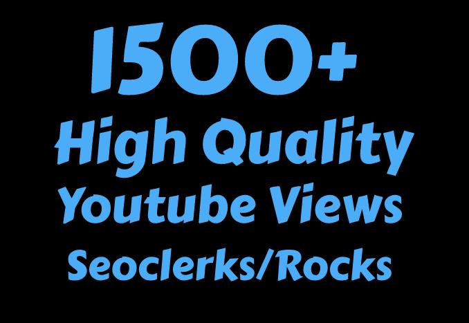 I will Add 1500 High Quality Views