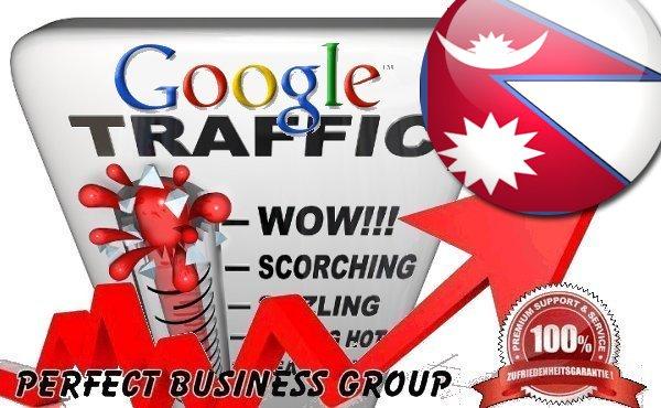 Organic traffic from Google.com.np (Nepal)