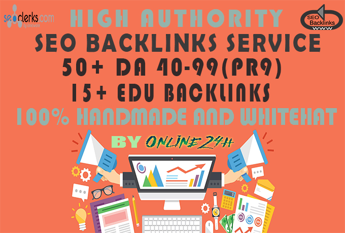 50+ DA 40-99(PR9) Dofollow Plus 15+ Edu Backlinks only