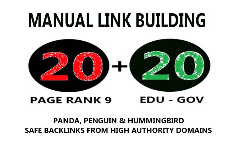 20 PR9 + 20 .EDU/.GOV Backlinks From Authority Domains only