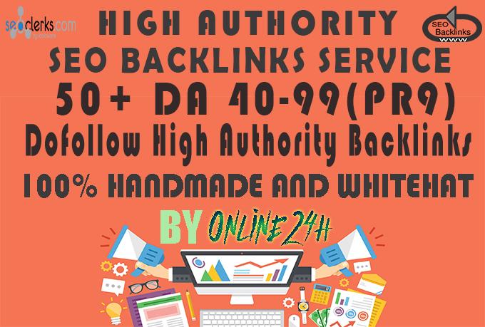 55+ DA 40-99(PR9) Dofollow High Authority Backlinks only