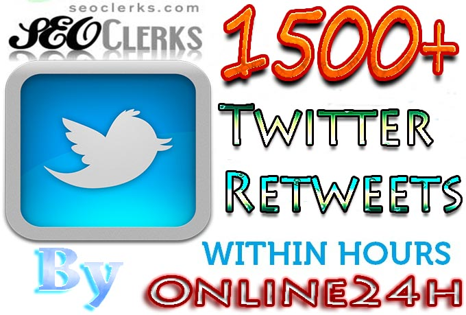 GREAT OFFER!!!1500+ Twitter Retweets to your Twitter link fast