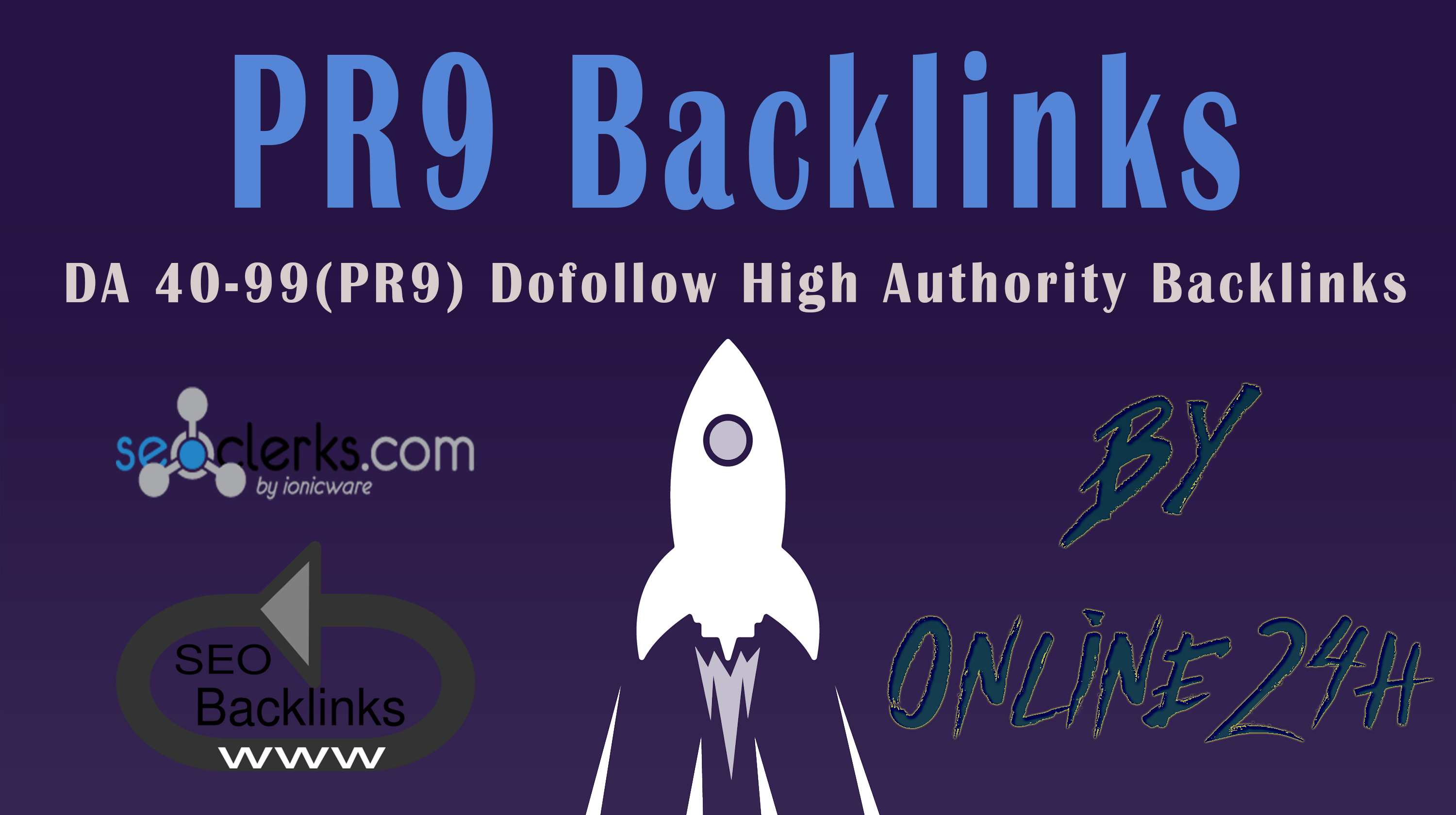 40+ DA 40-99 PR9 Dofollow High Authority Backlinks only