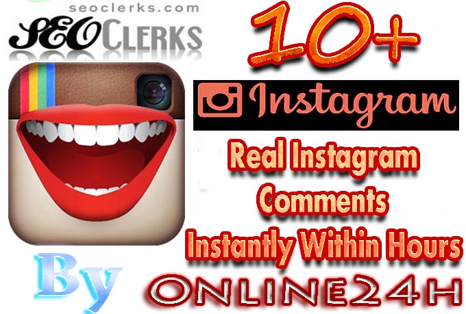 Increase Your Popularity By 10 Real Instagram comments fast only