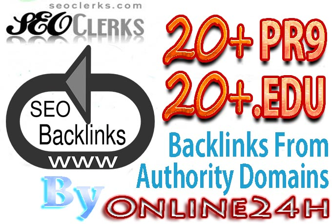 20 PR9 OR 20 .EDU Backlinks From Authority Domains only