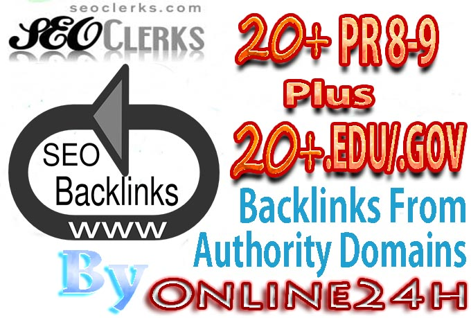 20+ PR8-9 + 20+ .EDU/.GOV Backlinks From Authority Domains only