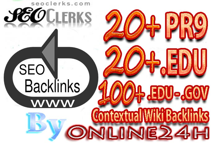 20 PR9 OR 20 .EDU OR 100 .EDU - .GOV Contextual Wiki Backlinks From Authority Domains only