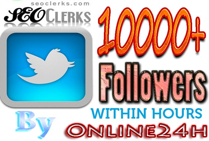 Get You FAST 10,000+ Twitter Followers only