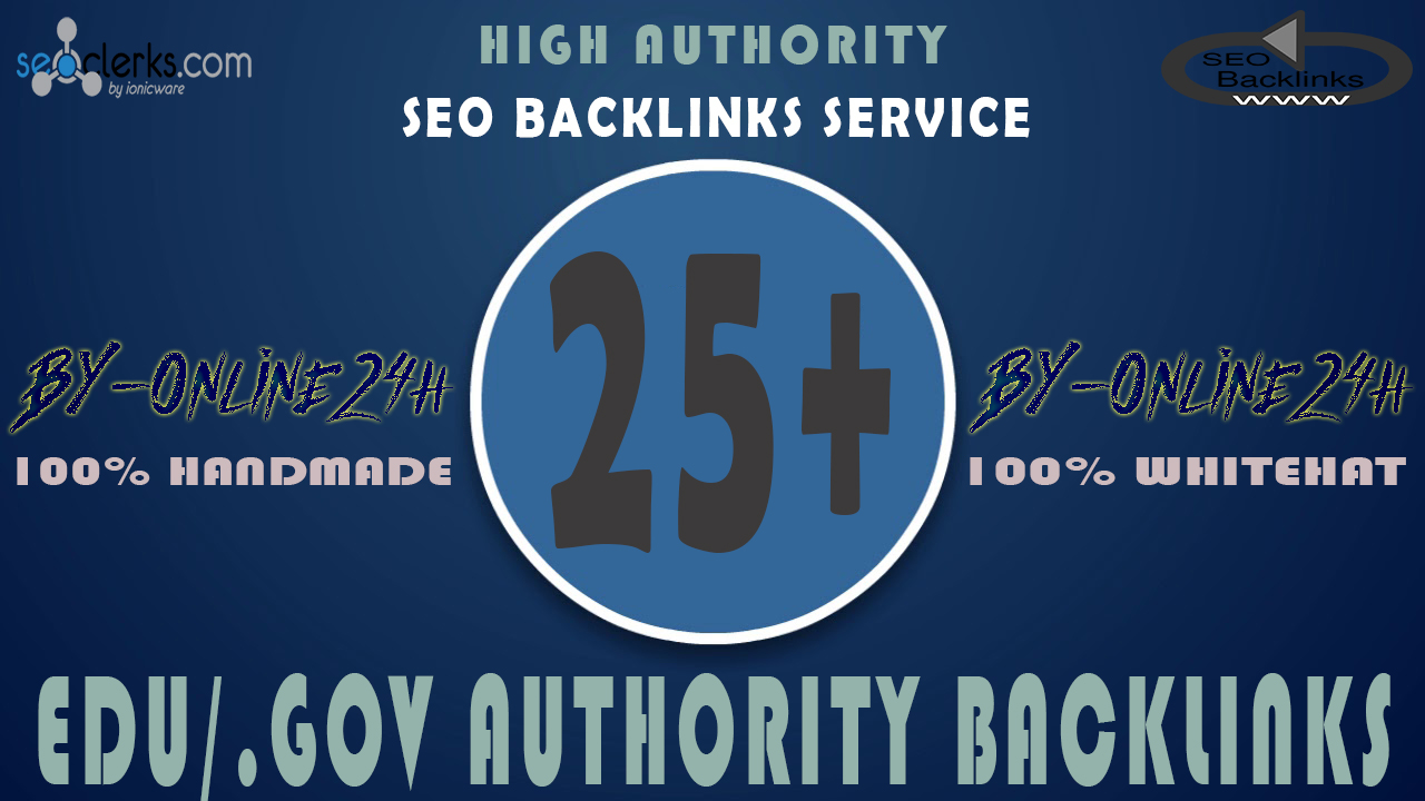 25+ .EDU/.GOV Backlinks From Authority Domains only