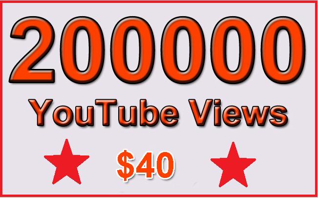 200000 Non Drop YouTube Views