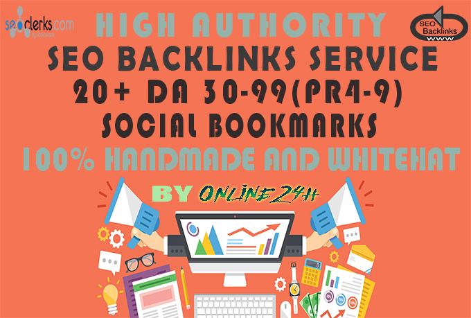 20+ High PR4-9 Social Bookmarks only