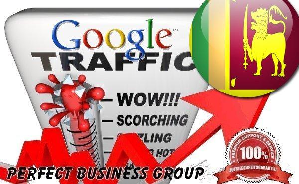 Organic traffic from Google.lk (Sri Lanka) with your Keyword