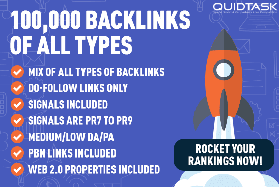 Create 100,000 Backlinks of ALL types, including Signals, Bookmarks and Do-Follow links