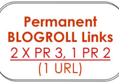 will give you 2 x PR3 + 2 x PR2 + 1 x PR1 Permanent BLOGROLL Links