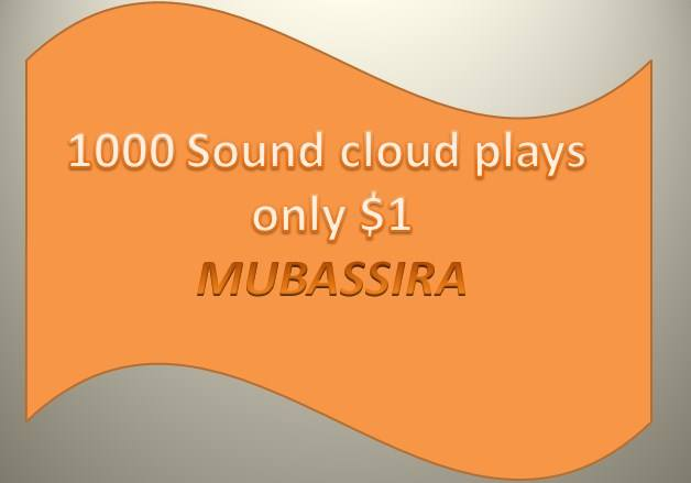 I will give you 1000 Sound cloud plays & 20 Likes FREE  in your selected track just for Only