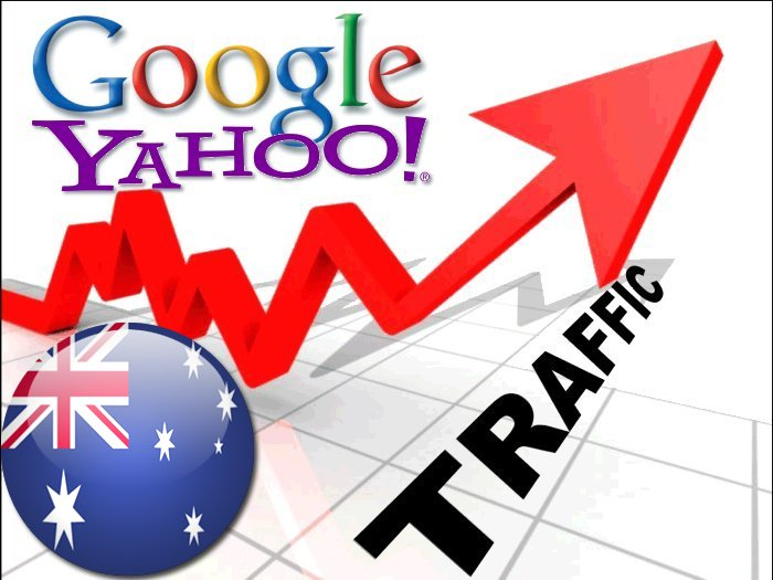 Organic traffic from Google. com. au + Yahoo 7 Australia