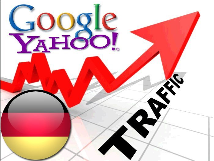 Organic traffic from Google.de + Yahoo! Deutschland