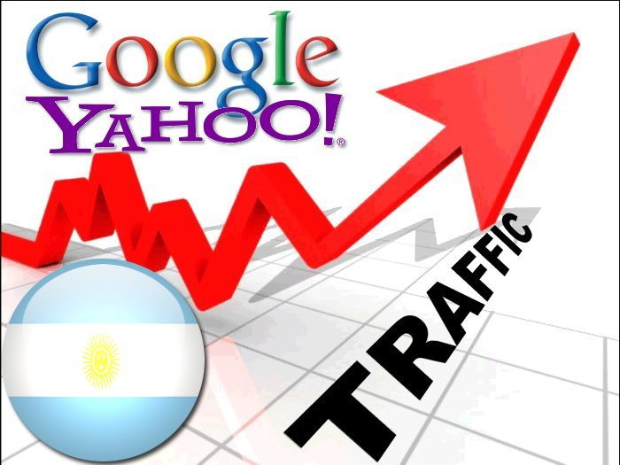 Organic traffic from Google.com.ar + Yahoo! Argentina