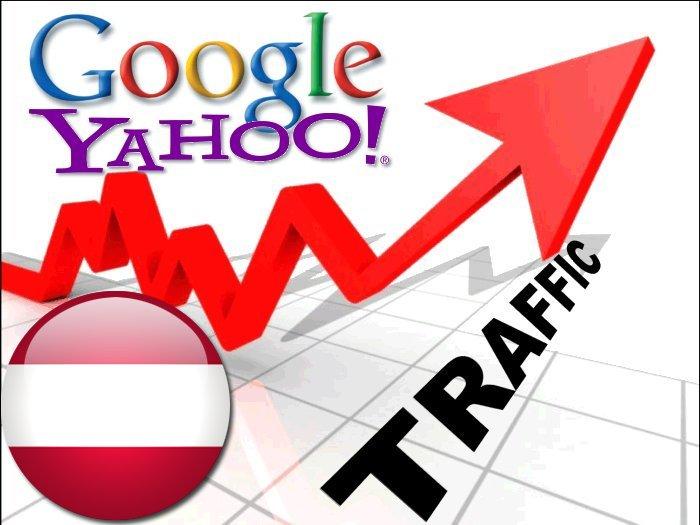 Organic traffic from Google. at + Yahoo Ö sterreich