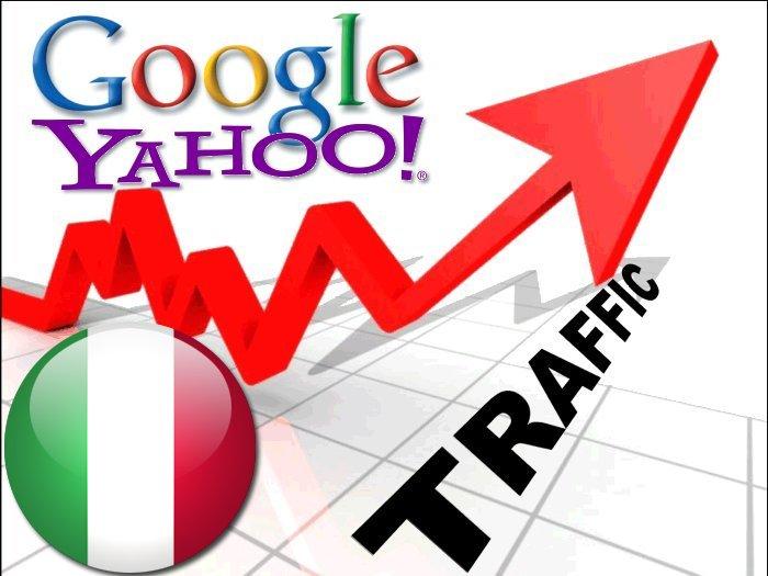 Organic traffic from Google. it + Yahoo Italia