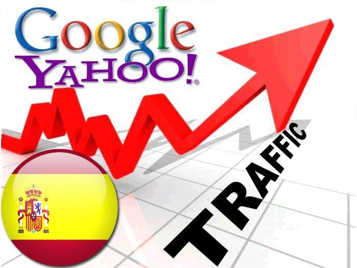 Organic traffic from Google.es + Yahoo! Espana