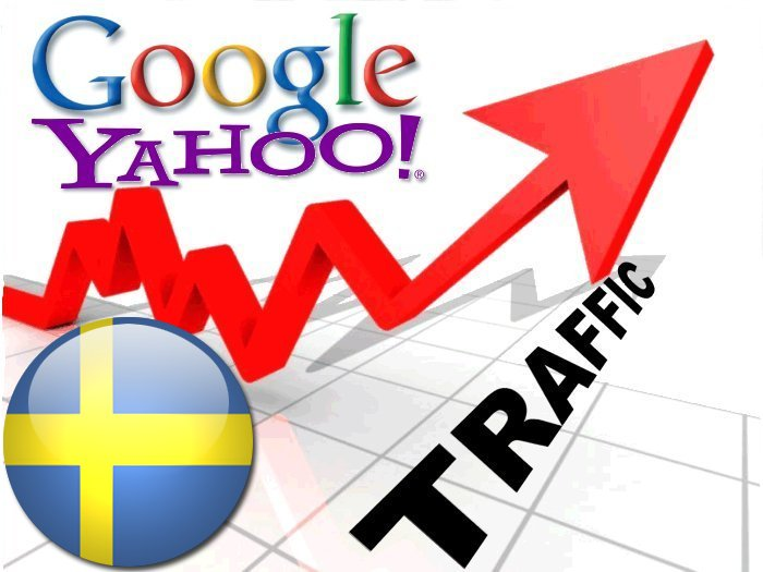 Organic traffic from Google.se + Yahoo! Sverige