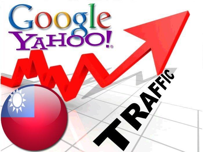 Organic traffic from Google. com. tw + Yahoo