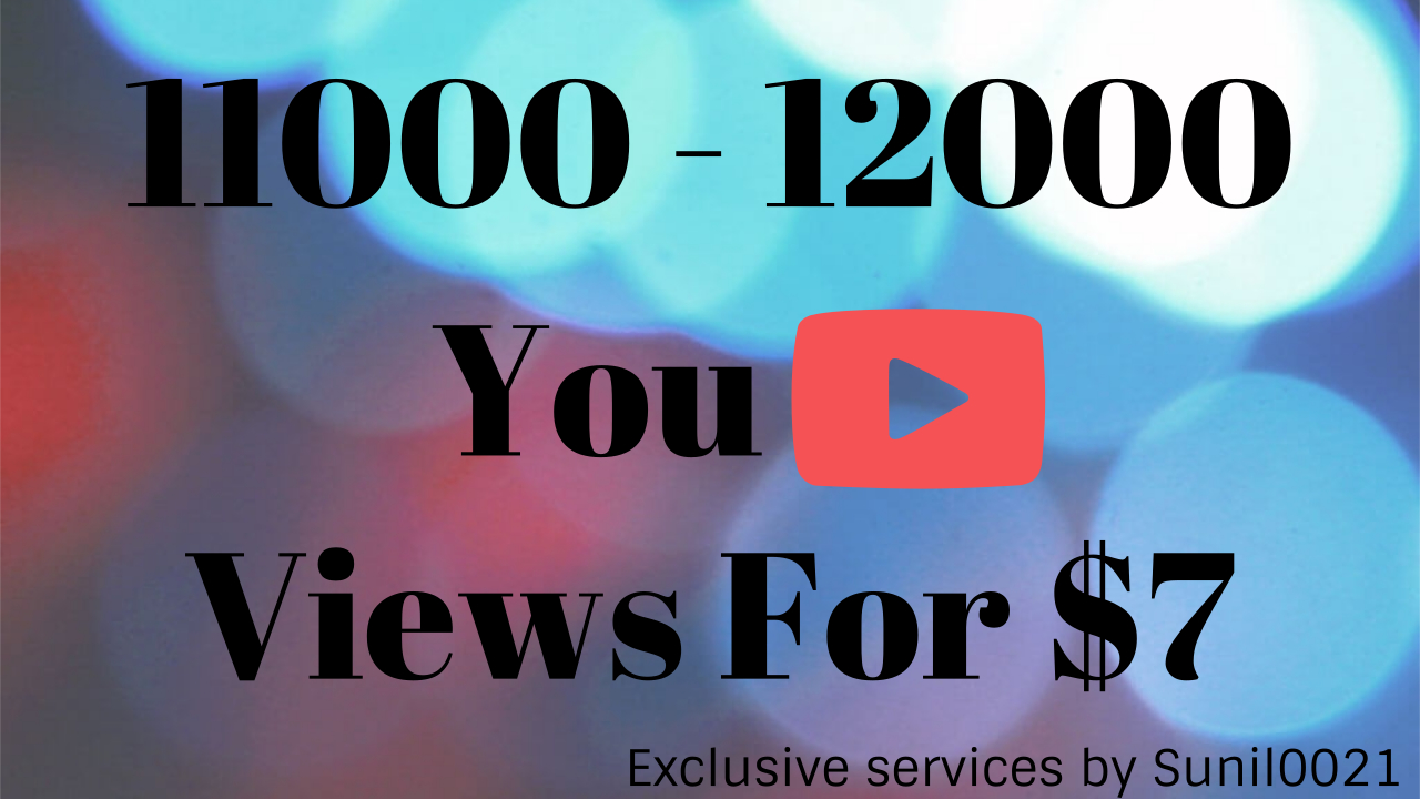 Instant 1000-4000 High Quality Youtube Vie ws