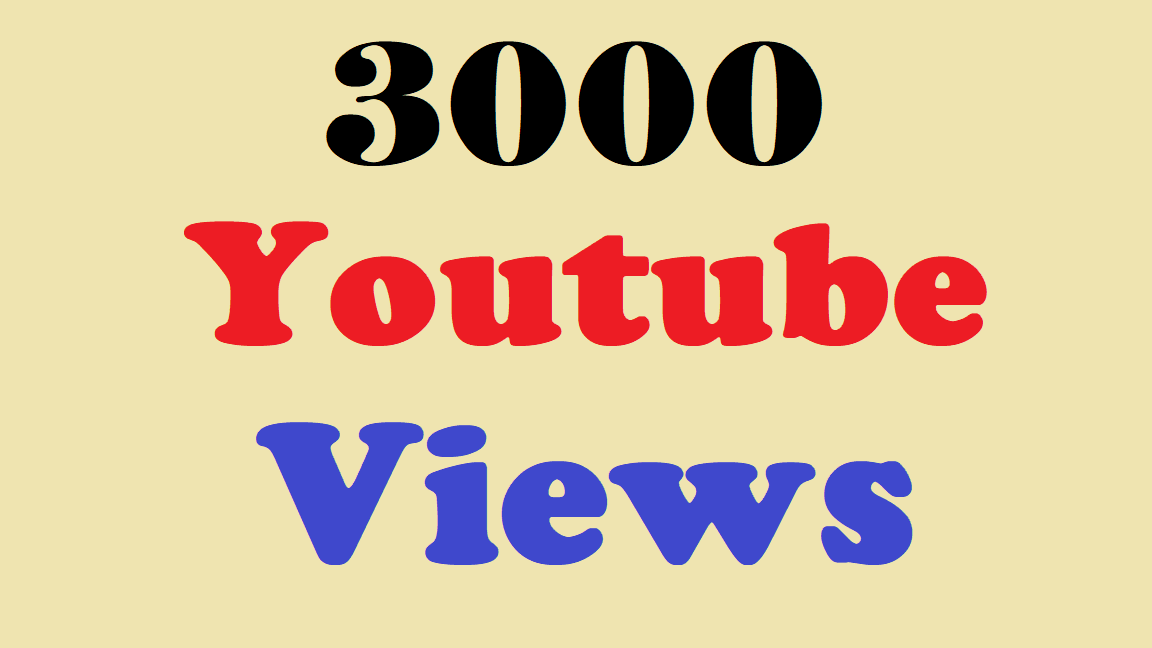 Provide You 3000 3k High Retention YouTube views