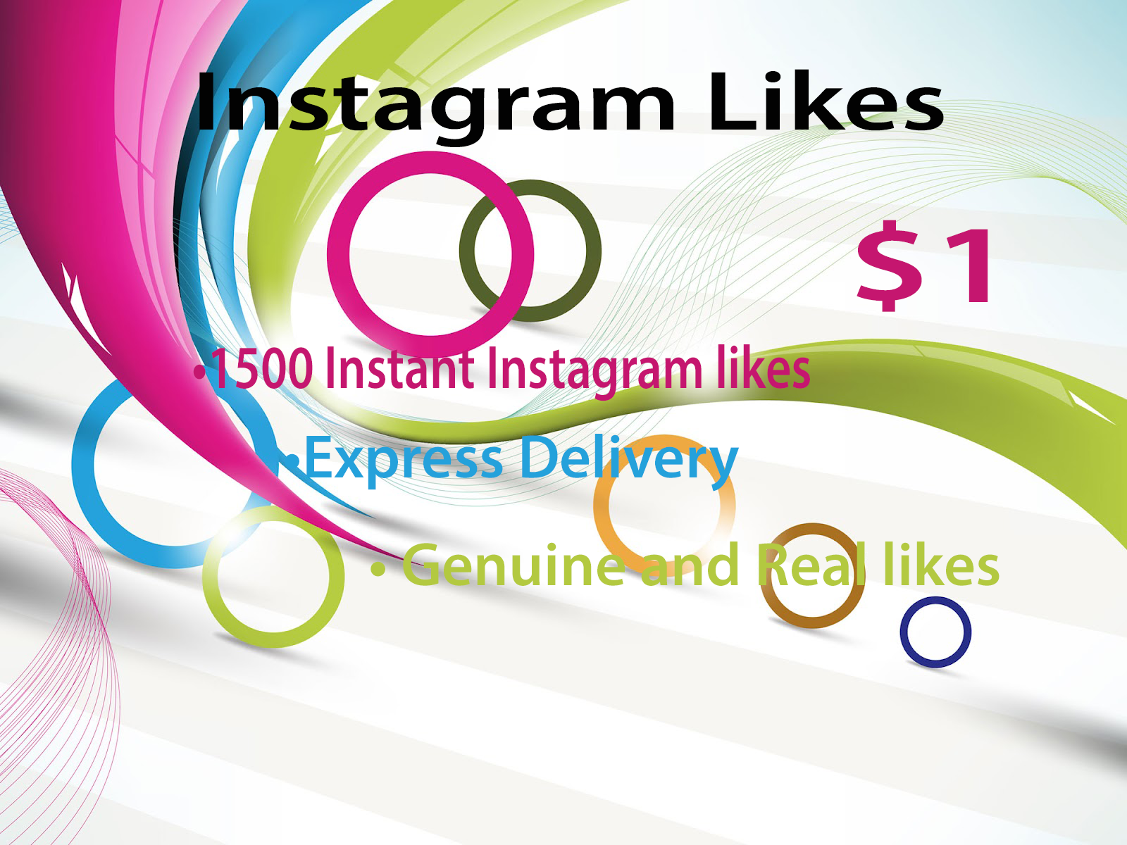 1500 Instant Instagram likes to your Photo or Video for $1
