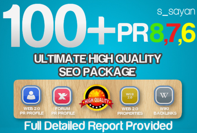 create 100+ All In One Real High Pr Quality BACKLINKS Package / Dofollow, Seo