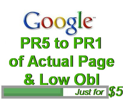 create 100 PR5 to PR1 Actual Page and Low Obl